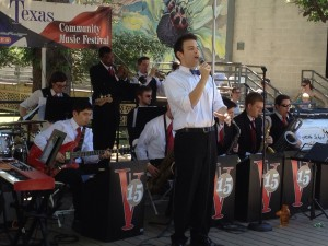 The Vintage 15 perform big band jazz and swing on Day 2 of the 2012 Texas Community Music Festival.