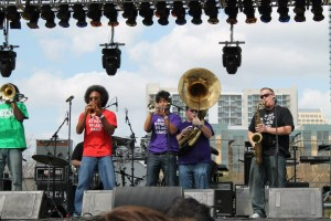 Boss Street Brass Band at the 2013 Urban Music Festival.
