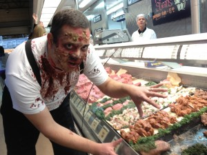 Zombies invade Central Market meat department