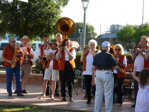 The late Vincent R. DeNino conducts the Longhorn Alumni Band in the 2012 TCMF