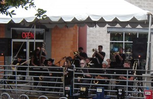 NAJO (then known as the North Austin Jazz Orchestra) performs on the Showcase Stage during the first Texas Community Music Festival in 2006.